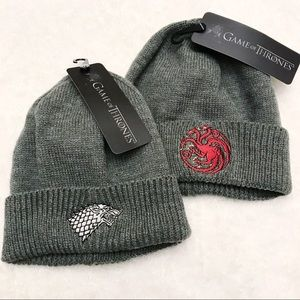 LOT of 2 GAME of THRONES Beanies